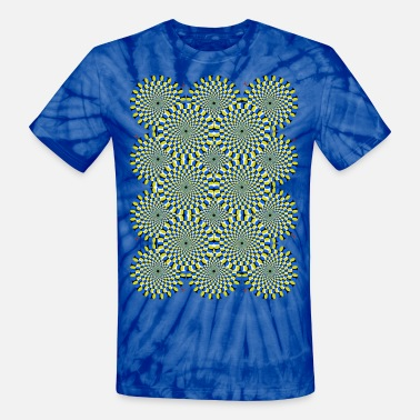 Trippy Moving Psychedelic Circles - Unisex Tie Dye T-Shirt