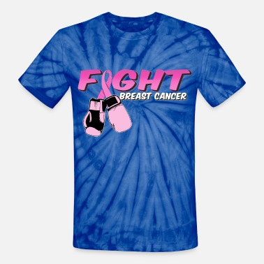 Fight Breast Cancer Pink Boxing Gloves - Unisex Tie Dye T-Shirt