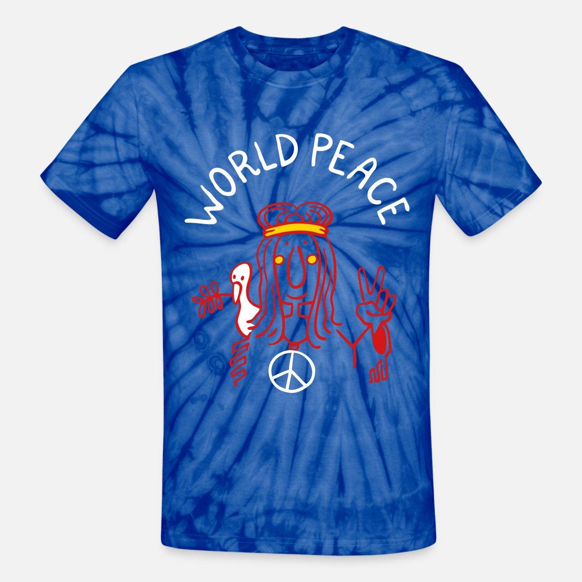 eff6d94e85a7 World Peace Unisex Tie Dye T-Shirt   Spreadshirt