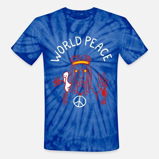 3b45576ac0ad Hippie T-Shirts - World Peace - Unisex Tie Dye T-Shirt spider baby