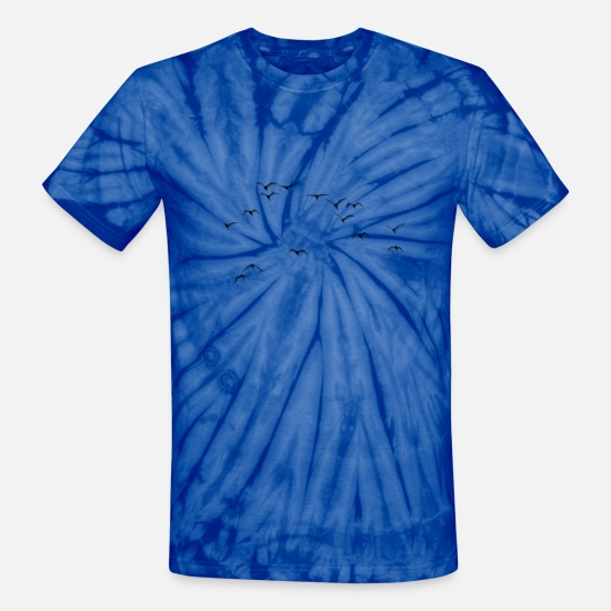 Bird T-Shirts - Bird Native birds songbird blackbird gift - Unisex Tie Dye T-Shirt spider baby blue