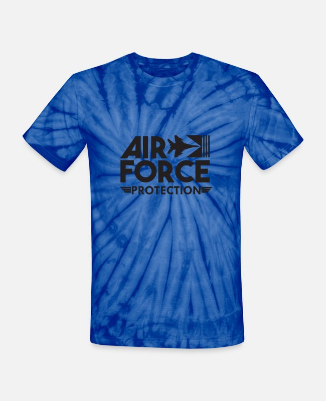 Pilot T-Shirts - Air Force Protection - Air Force - Unisex Tie Dye T-Shirt spider baby blue