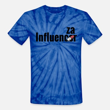 Influenza Influencer becomes influenza with medicine pill - Unisex Tie Dye T-Shirt