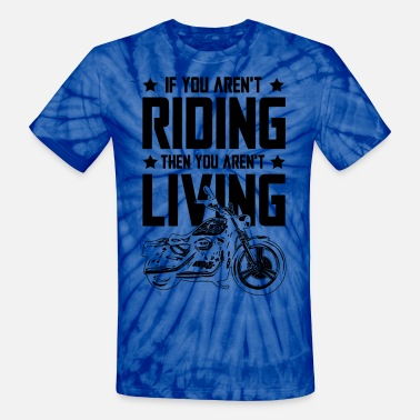 Turbo Motorcycle Riding Living - Unisex Tie Dye T-Shirt