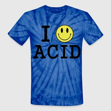 I love Acid / LSD / Drugs - Unisex Tie Dye T-Shirt