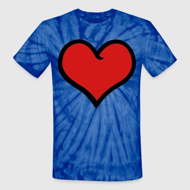 cute heart - Unisex Tie Dye T-Shirt