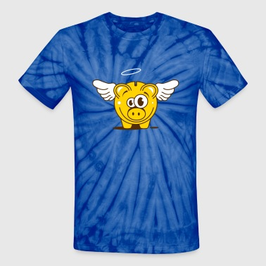 A funny piggy bank with wings  - Unisex Tie Dye T-Shirt
