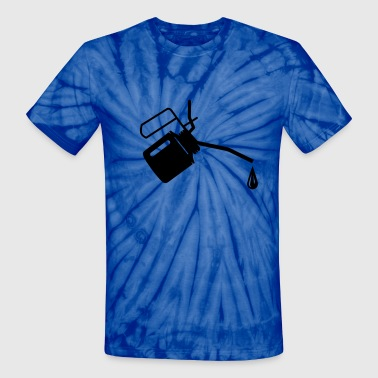 An oil can and oil drop  - Unisex Tie Dye T-Shirt