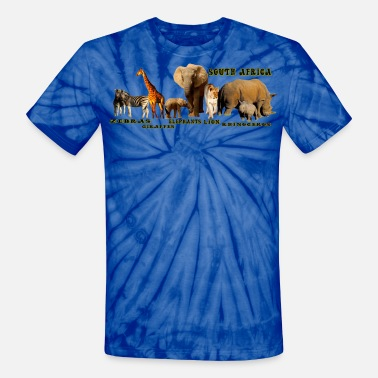 African Wildlife South African Wildlife Collage II - Unisex Tie Dye T-Shirt