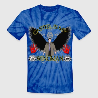 Wingman Castiel is my wingman - Unisex Tie Dye T-Shirt