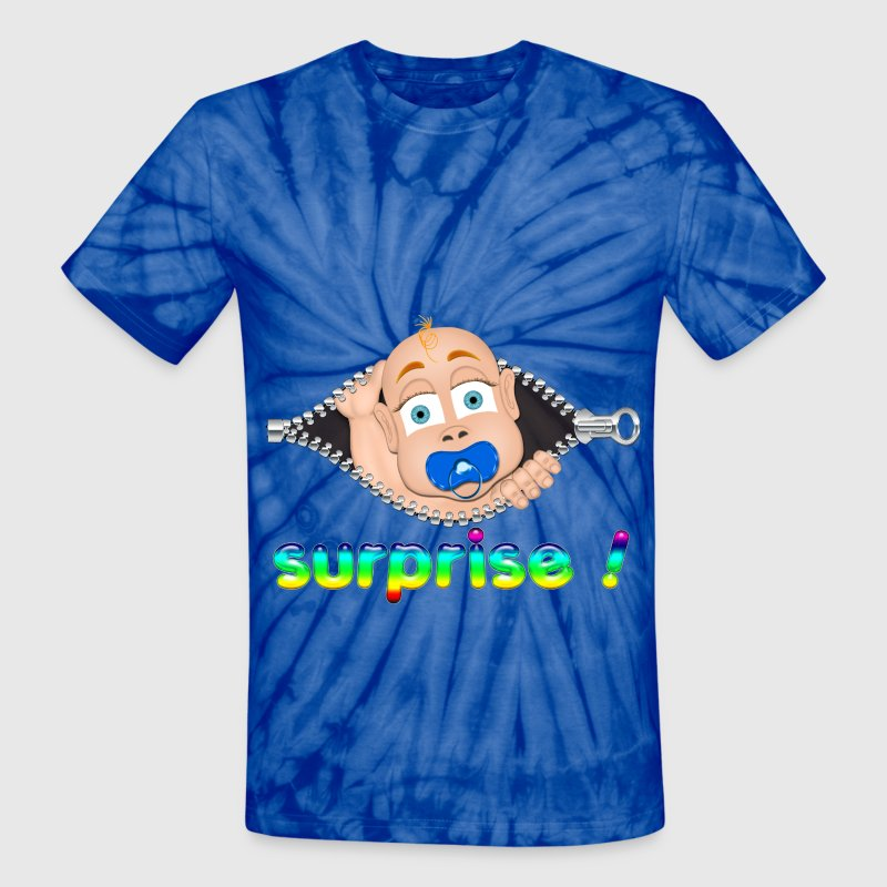 Surprise Baby Boo - Unisex Tie Dye T-Shirt