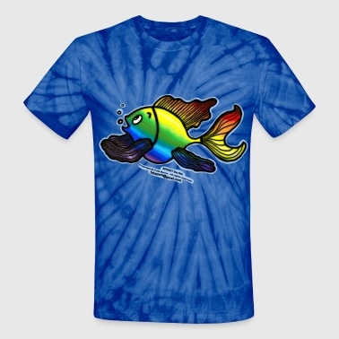 Rainbow Fish,  - Unisex Tie Dye T-Shirt