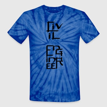 Civil Engineer Character - Unisex Tie Dye T-Shirt
