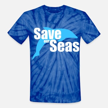 Save Our Oceans Save our Seas - Unisex Tie Dye T-Shirt