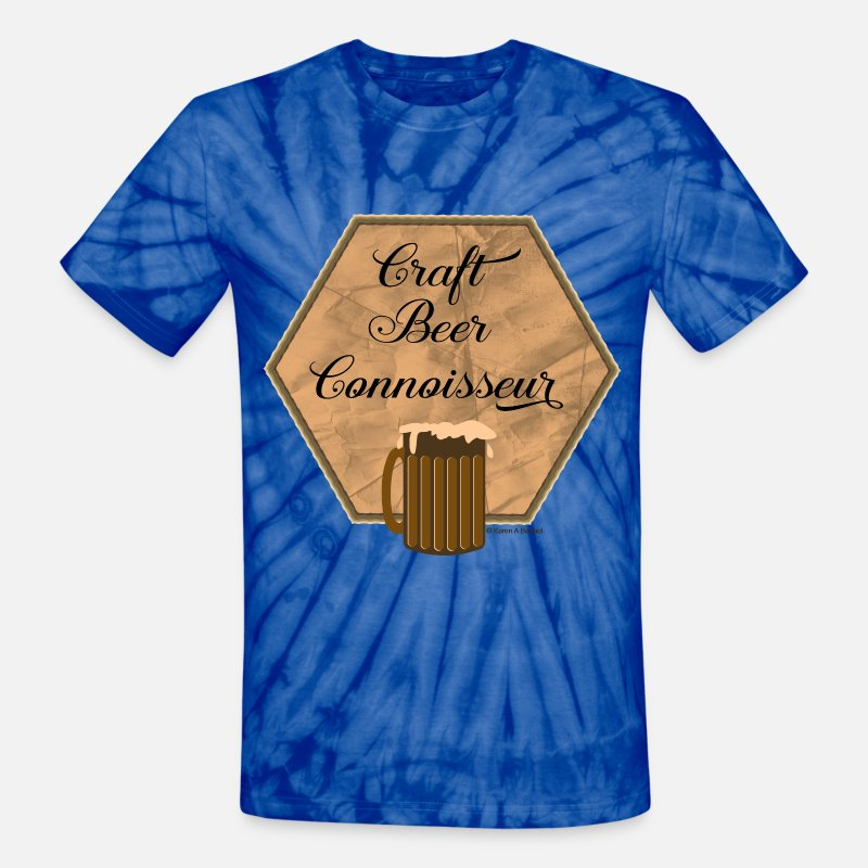Beer T-Shirts - Craft Beer Connoisseur - Unisex Tie Dye T-Shirt spider baby blue