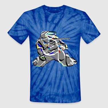 Paintball (ADD CUSTOM TEXT) - Unisex Tie Dye T-Shirt