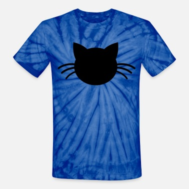 Puddy puddy cute cat with whiskers - Unisex Tie Dye T-Shirt