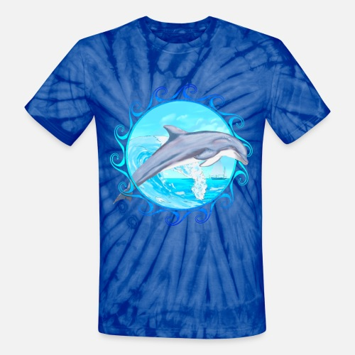 2c58b8f94b Dolphin Maori Sun Unisex Tie Dye T-Shirt