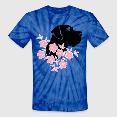 Great Dane in Flowers - Unisex Tie Dye T-Shirt