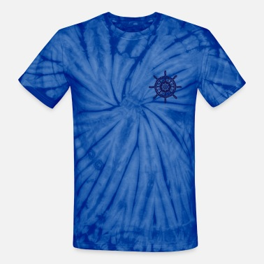 Ships Wheel A ship wheel - Unisex Tie Dye T-Shirt