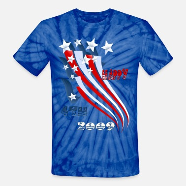 Flag Day Independence Day Flag - Unisex Tie Dye T-Shirt