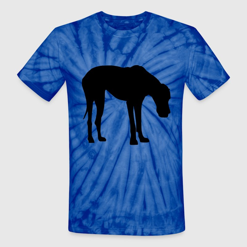 Great Dane natural Ears Black - Unisex Tie Dye T-Shirt