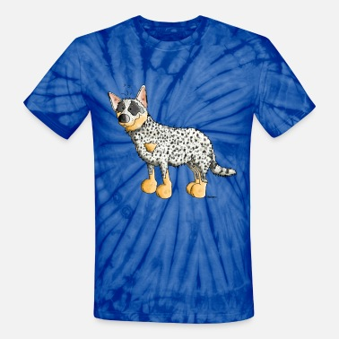 Cattle Funny Australian Cattle Dog - Dogs - Unisex Tie Dye T-Shirt