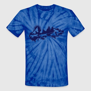 Sled dog race Graffiti - Unisex Tie Dye T-Shirt