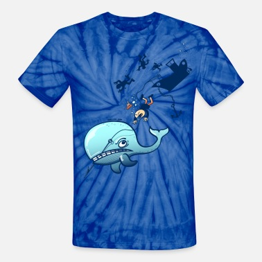 Fed Up Whales are Furious - Unisex Tie Dye T-Shirt
