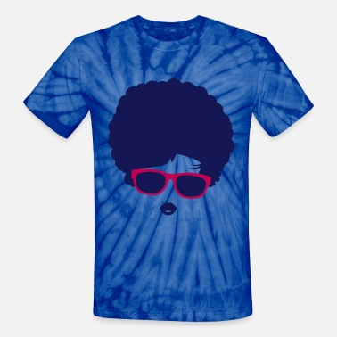 Hairstyle A girl with afro hairstyle and sunglasses - Unisex Tie Dye T-Shirt