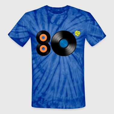 1980s Vinyl Records 45 Adapter LP - Unisex Tie Dye T-Shirt