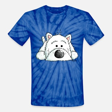 West Highland White Terrier - Dog - Unisex Tie Dye T-Shirt