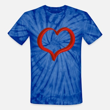 Dude Perfect Logo red heart - Unisex Tie Dye T-Shirt