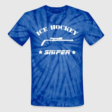Sniper Hockey Ice Hockey Sniper - Unisex Tie Dye T-Shirt
