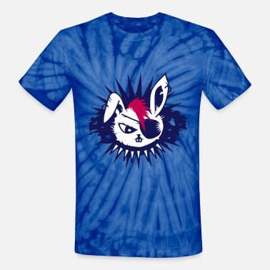 Eye Patch  rabbit with an eye patch and a mohawk - Unisex Tie Dye T-Shirt