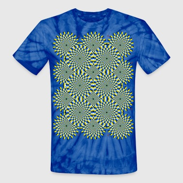 Moving Psychedelic Circles - Unisex Tie Dye T-Shirt
