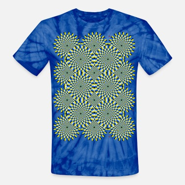 Breast Optical Illusion Moving Psychedelic Circles - Unisex Tie Dye T-Shirt