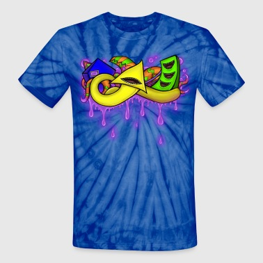 Neon Shapes - Unisex Tie Dye T-Shirt