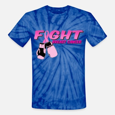Boobs Boxing Fight Breast Cancer Pink Boxing Gloves 2 - Unisex Tie Dye T-Shirt