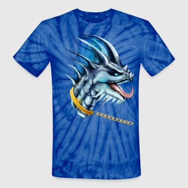 Dragon and Gold Chain  - Unisex Tie Dye T-Shirt