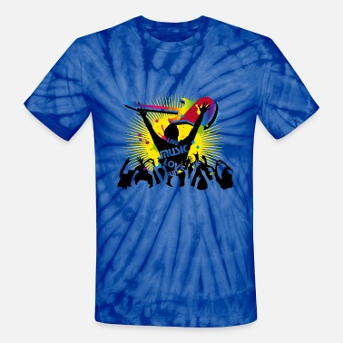 Festival Festival visitors - Unisex Tie Dye T-Shirt