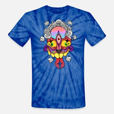 Psychedelic Trippy 5 Eyed Monster Shirt - Unisex Tie Dye T-Shirt