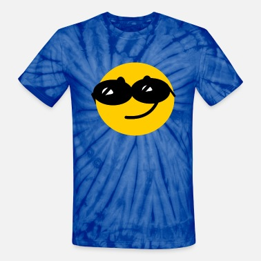 cool smiley face sunglasses flirty cool smiley face with sunglasses unisex tie dye t