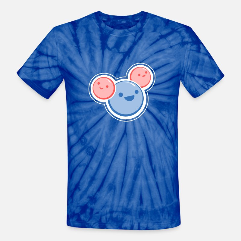 Science T-Shirts - Water Molecule - Unisex Tie Dye T-Shirt spider baby blue