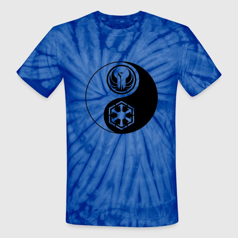 Star Wars SWTOR Yin Yang 1-Color Dark - Unisex Tie Dye T-Shirt
