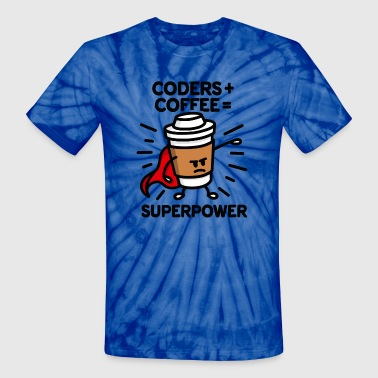Ict Coders + coffee = superpower (superhero) light - Unisex Tie Dye T-Shirt