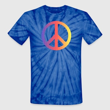 Peace Sign colorpeace - Unisex Tie Dye T-Shirt