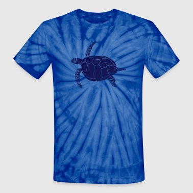 Reef sea turtle scuba diving coral reef - Unisex Tie Dye T-Shirt