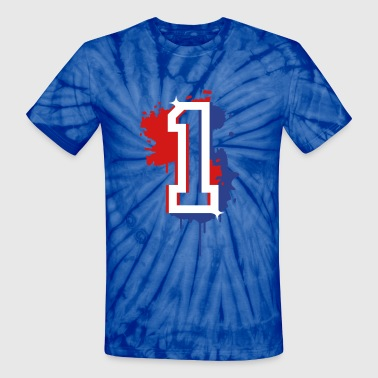 The number one as a graffiti - Unisex Tie Dye T-Shirt