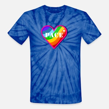 Pace Rainbow pace rainbow heart (DDP) - Unisex Tie Dye T-Shirt
